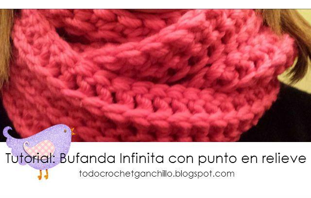 Todo crochet: Aprende a tejer una Bufanda infinita al crochet ...