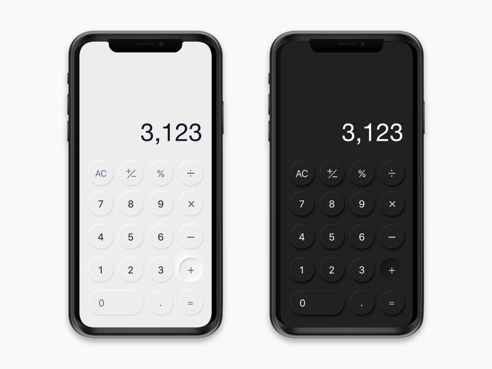 Mobile Calculator Neumorphism Em 2020