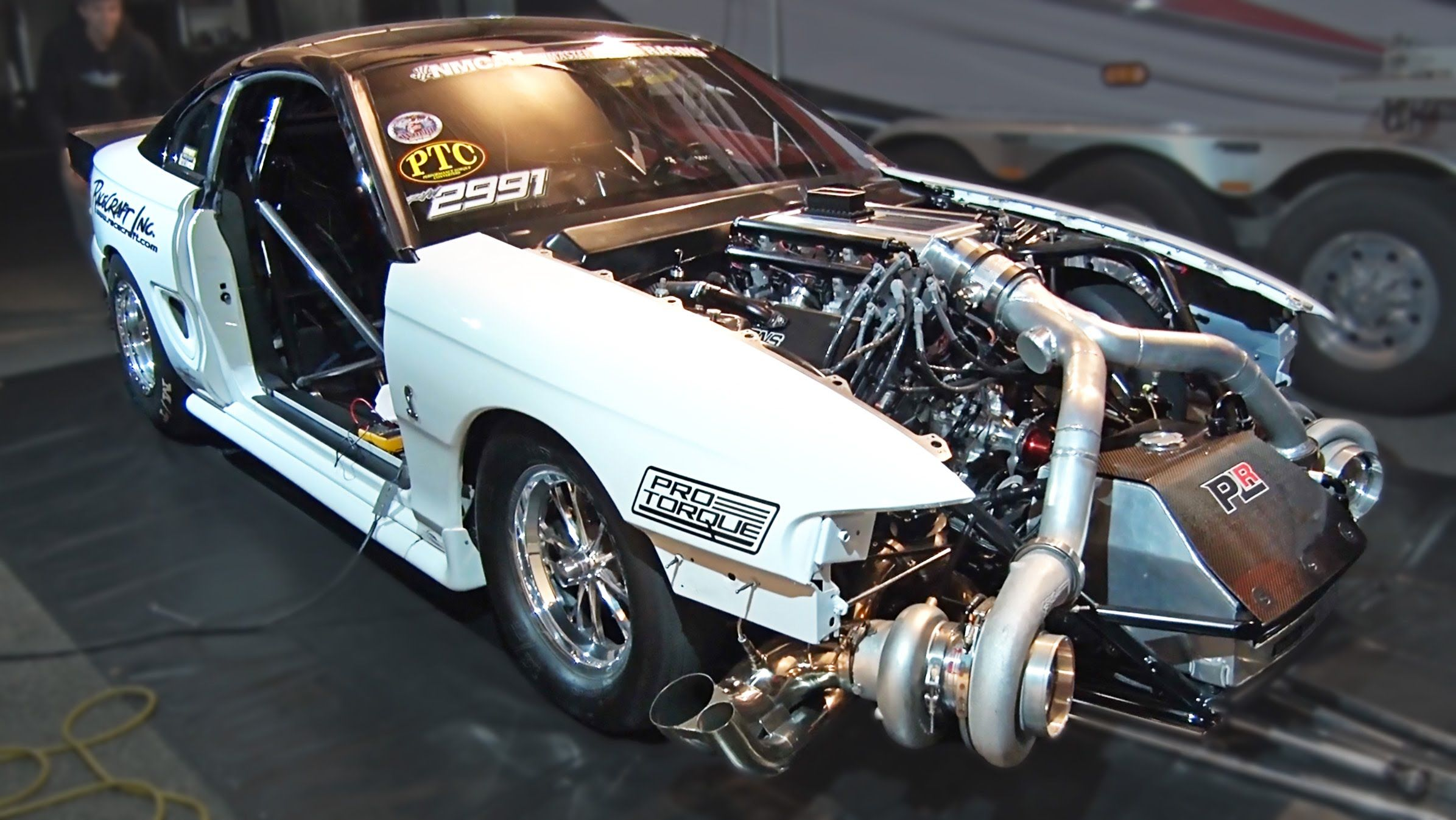 Twin turbo ford mustang 102mm turbochargers