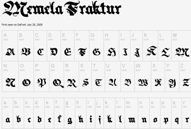 Memela Fraktur Font | dafont com - download this gloriously
