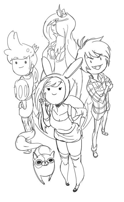 Finn Flame Princess Line Art Google Search Adventure Time Coloring Pages Coloring Books Coloring Pages