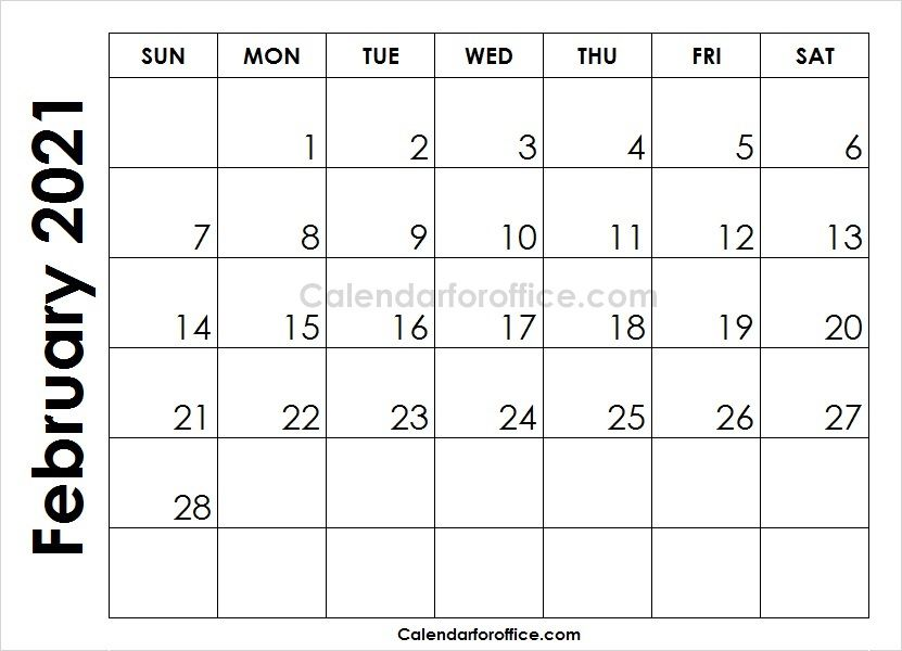 Month Of February Calendar 2021 To Print September Calendar February Calendar Calendar Template