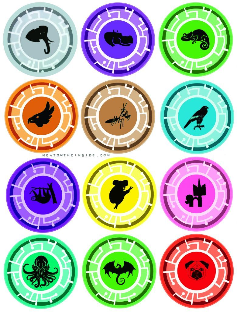 Wild Kratts Creature Power Discs (top 6 with authentic