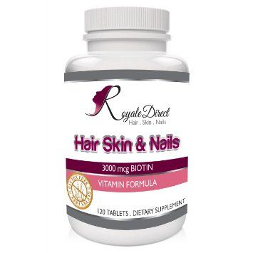 Hair Skin Nails Vitamins With 3000mcg Biotin For Growth Best Multivitamin Loss Treatment Folic Acid Vitamin A B C D E