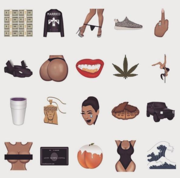 Emoticone Kim Kardashian kimoji ou les emoticones culs de kim kardashian - confidentielles