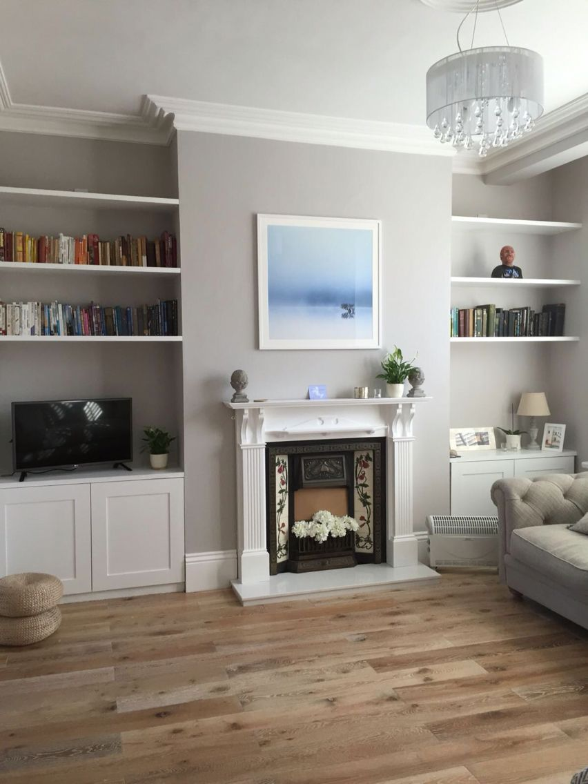 Colour Coded Books On Display In Formal Drawing Room Alcove Ideas Living Room Victorian Living Room Cottage Living Rooms