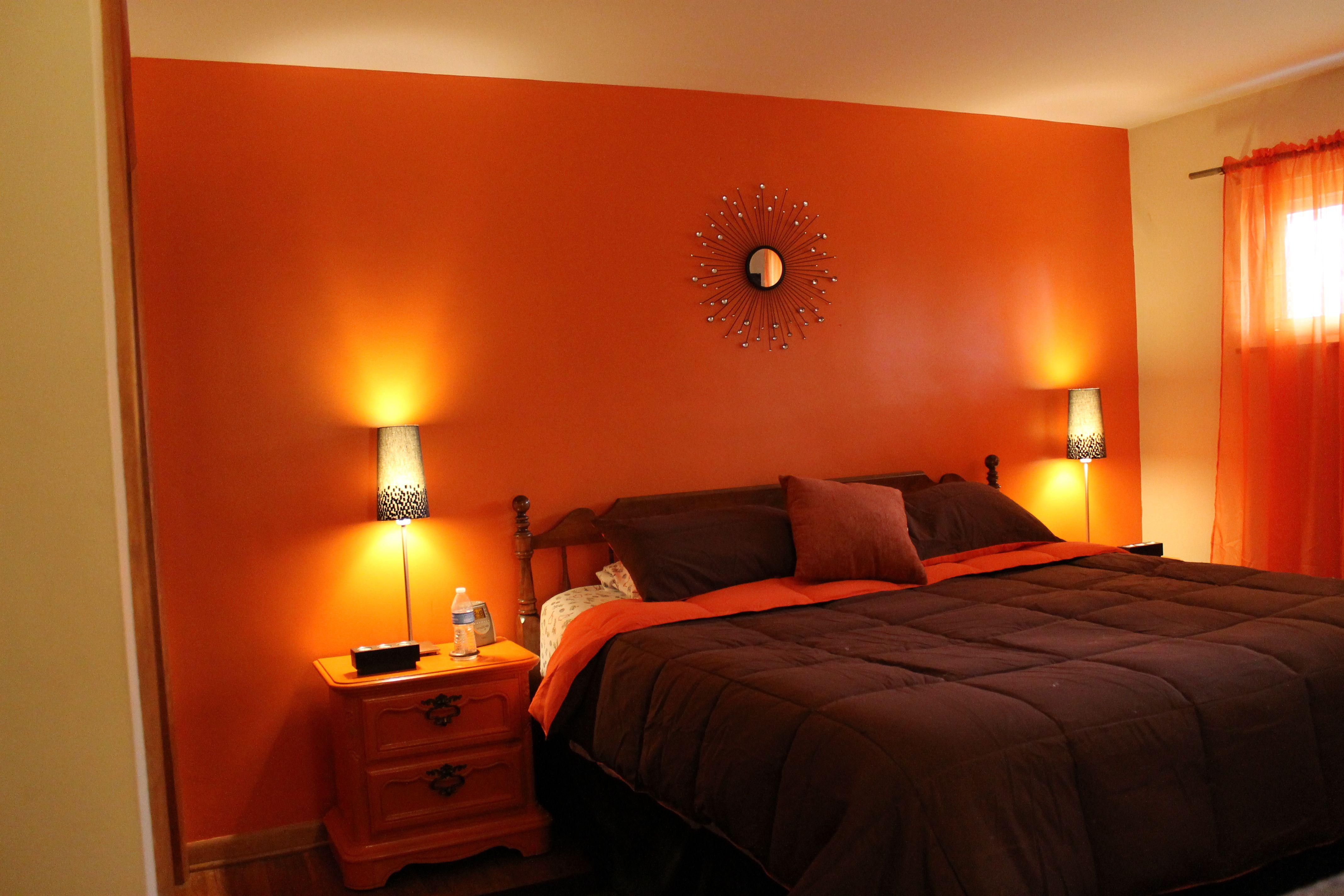 Orange And Brown Bedroom Couples Bedroom Colors Bedroom Colors Bedroom Color Combination