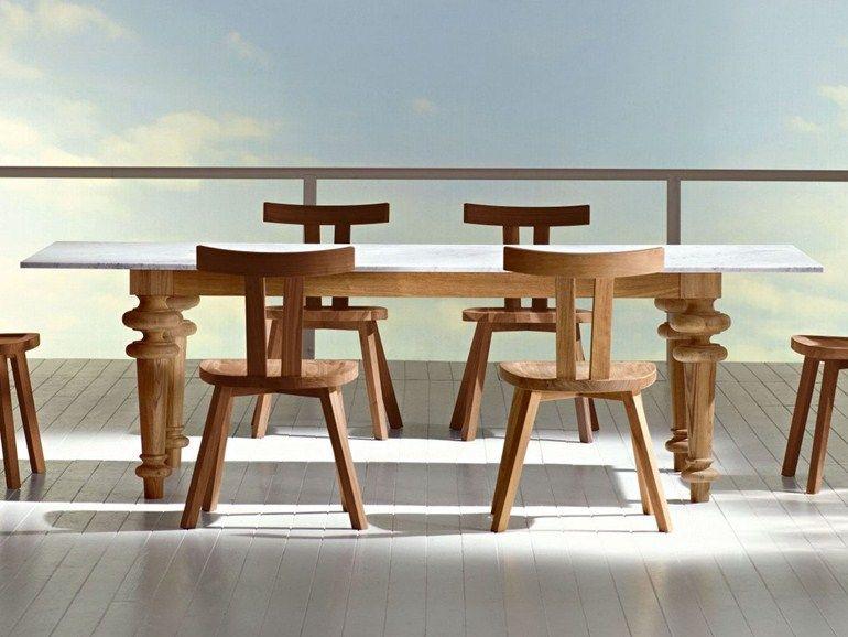 rechteckiger tisch aus eichenholz inout 733 - gervasoni | dining, Esstisch ideennn