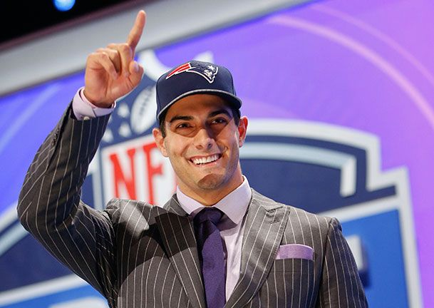 Congrats on taking the throne, Jimmy! Prettiest guy in the NFL | Meet Jimmy Garoppolo, Tom Brady's Competition