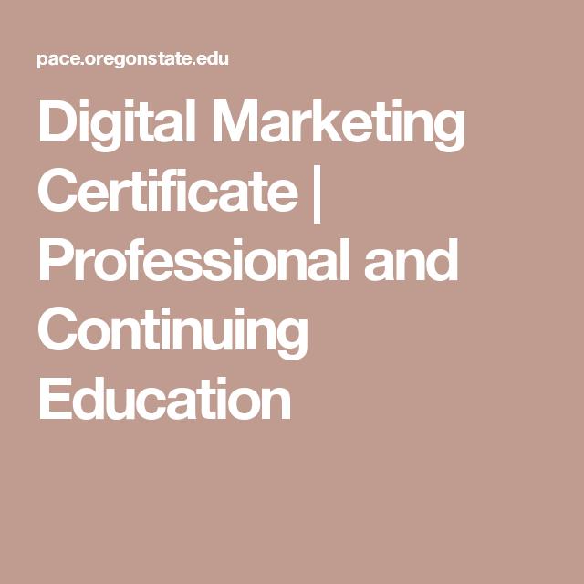 Digital Brand Management Certificate Brand Management Certificate