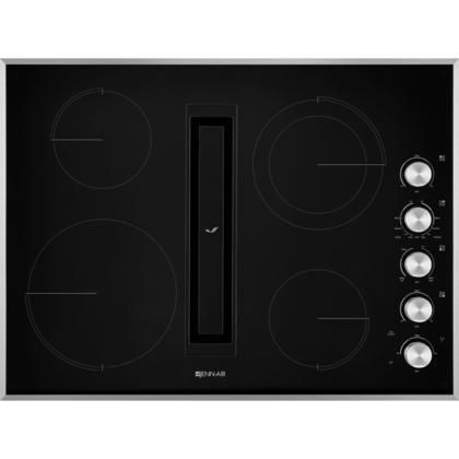 Jed3430gs 30 Electric Downdraft Cooktop With 4 Elements Perimetric Extraction Durafinish Gl