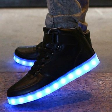 LED Light Up Shoes 7 Colors 8 flash mode Luminous Shoes Men Women Unisex  Couple Sneakers Fashion Casual Flat Shoes Usb Charging