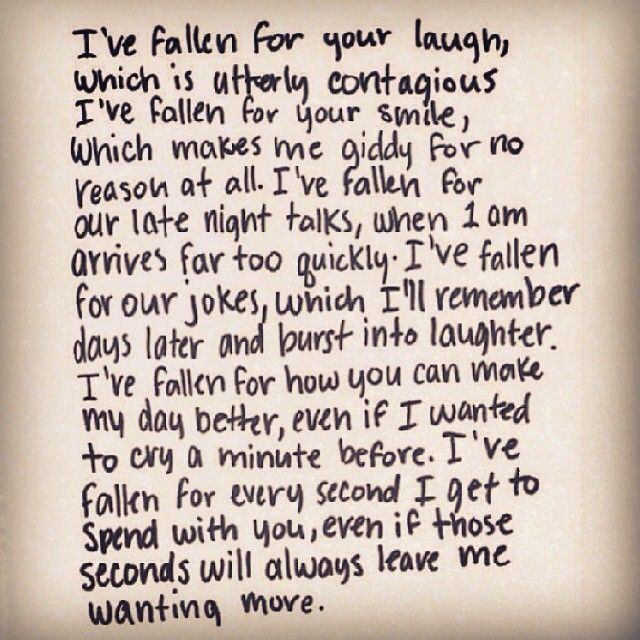 I Ve Fallen For Every Second I Get To Spend With You Even If