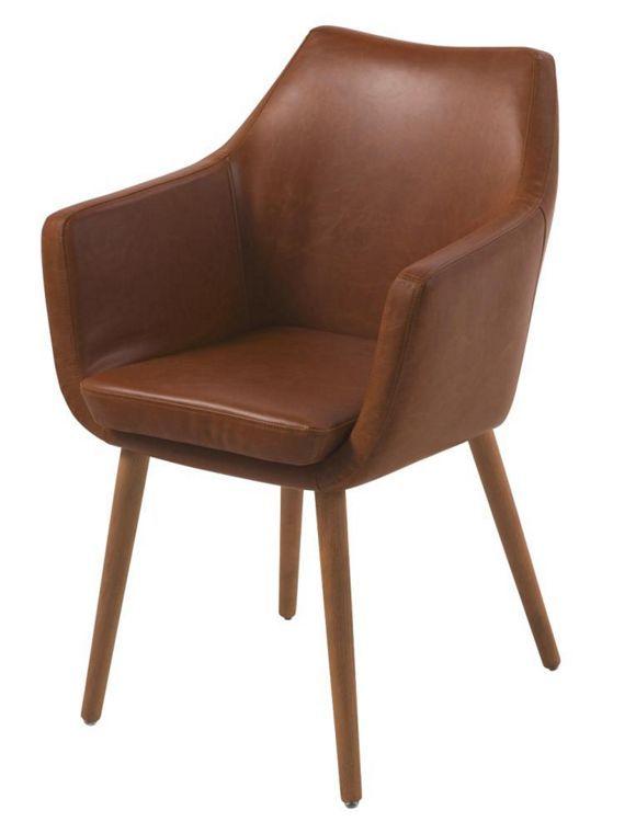 armlehnstuhl lederlook braun | wohn esszimmer, stuhl und esszimmer, Wohnideen design