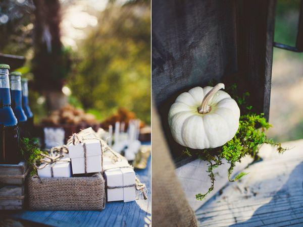 White or sugar pumpkins may make cute centerpieces
