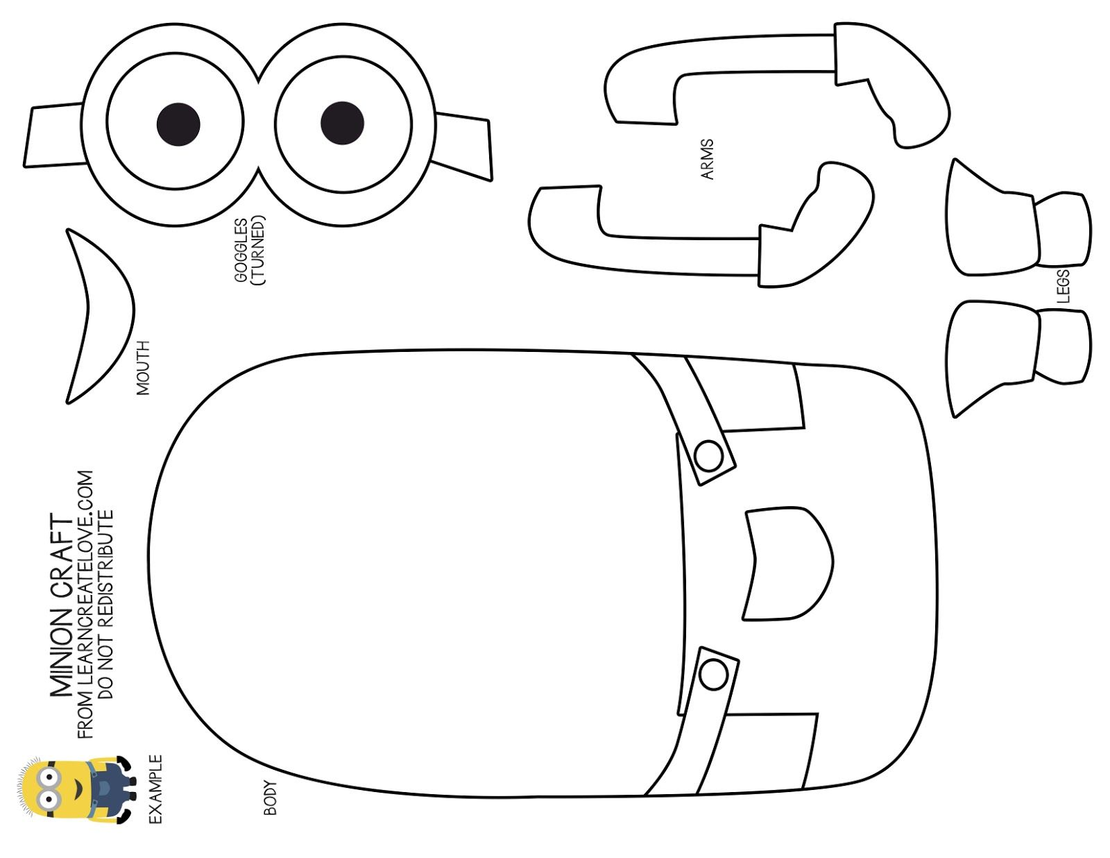 Printable coloring pages minions - Minion Cut Out Template Google Search