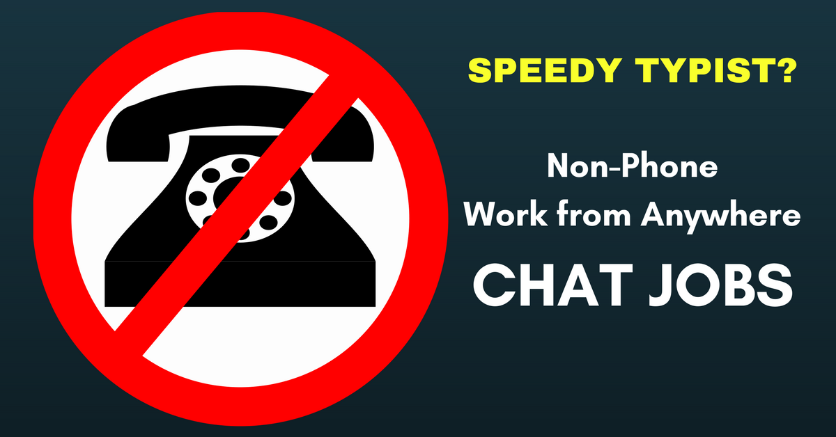 NonPhone Work from Home Chat Job with The Chat Shop