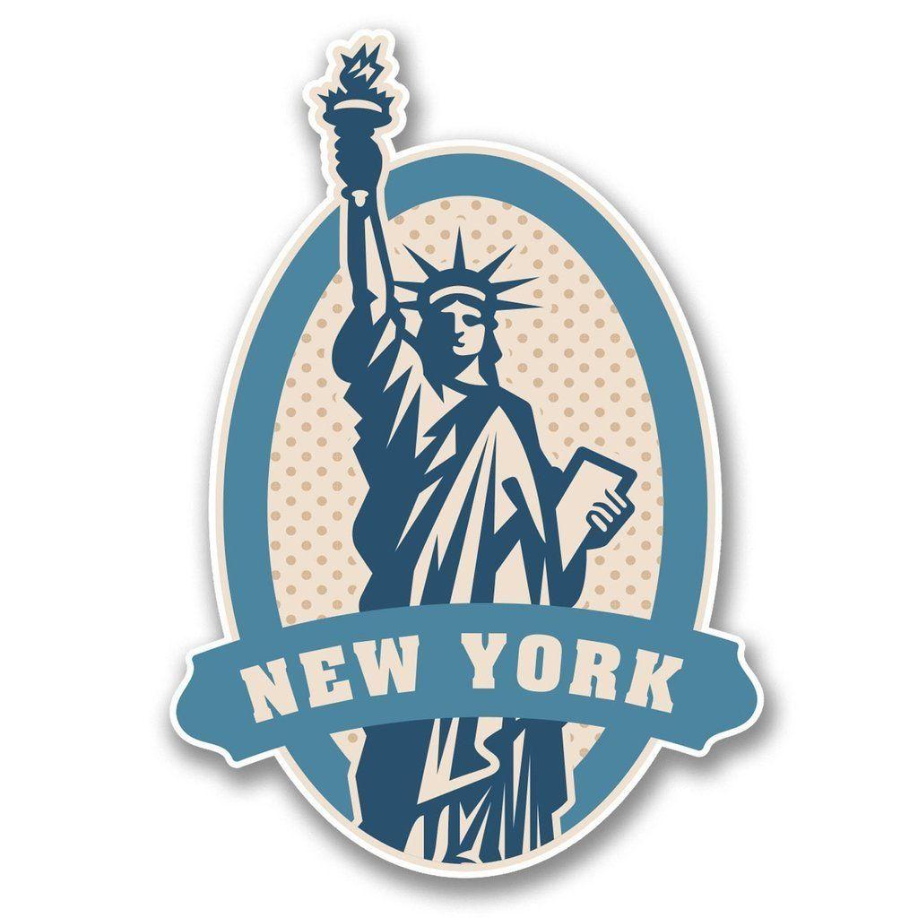 2 x New York Rustic Sticker Car Bike iPad Laptop Decal Travel Luggage USA #4206