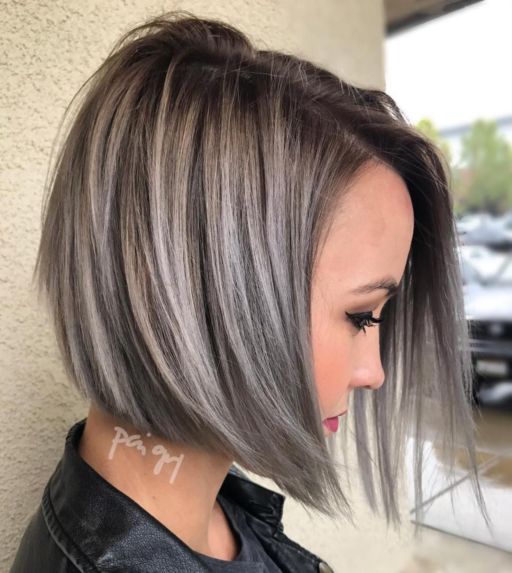 cute and easytostyle short layered hairstyles gray balayage
