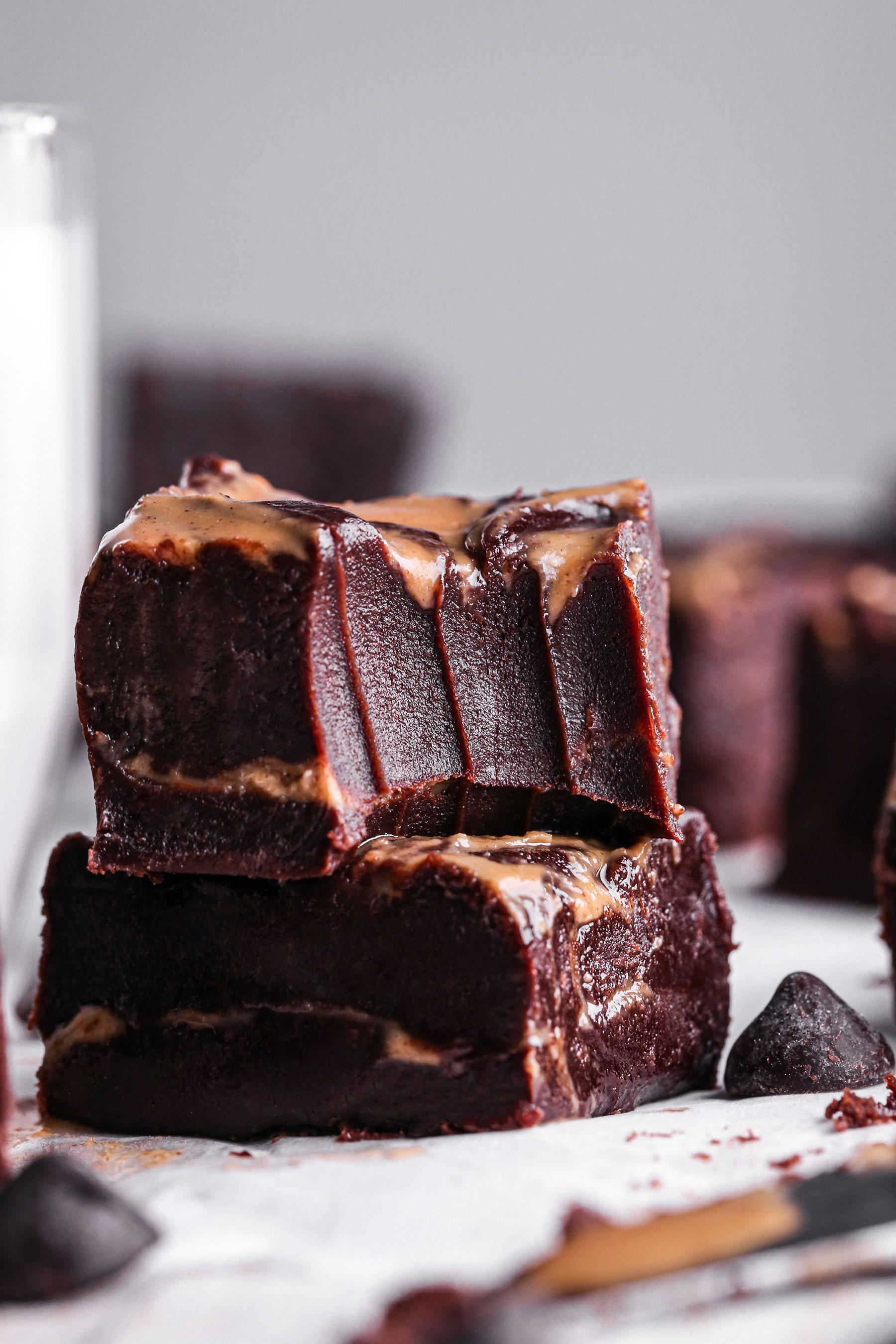 Chocolate and Peanut Butter Swirl Fudge