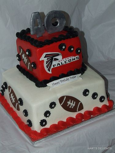 Altanta Falcons Birthday Cake By Hartsdelights Via Flickr
