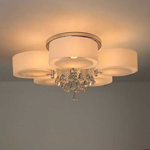 Natsen Crystal Ceiling Light Metal Flush Mount Ceiling Light Fixture For Bedroom Living Room Di Ceiling Lights Crystal Ceiling Light Flush Mount Ceiling Lights