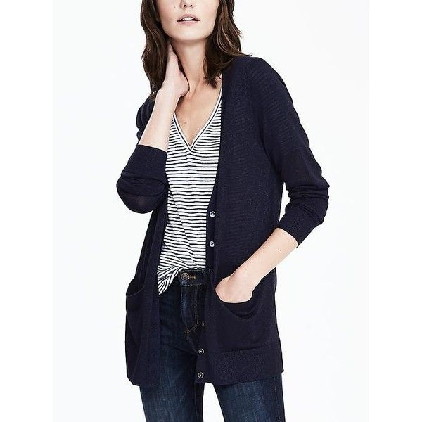 Banana Republic Womens Boyfriend Cardigan ($62) ❤ liked on ...