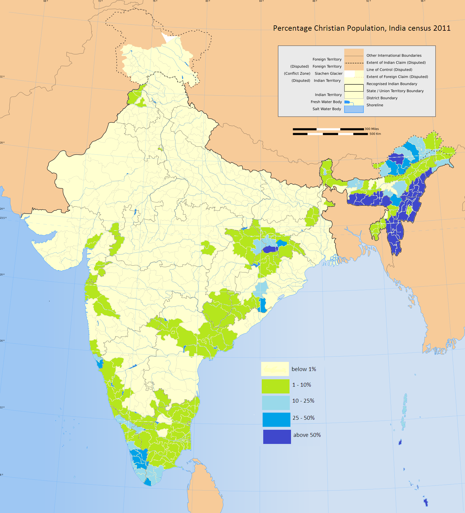 Christians In India By Bhvintri Map India India Pinterest - India religion map
