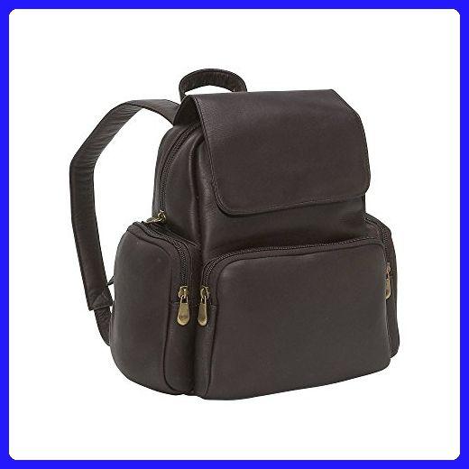 Le Donne Leather Women's Multi Pocket Back Pack Purse, Café, Medium - Shoulder bags (*Amazon Partner-Link)