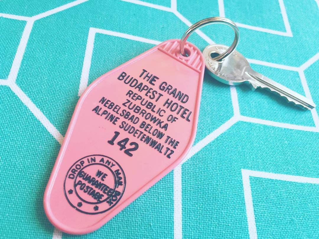 I got the key to my room in the #grandbudapesthotel  best present ever! Thank you @cristinamcclane @jokimbach #wesanderson #wesandersonassignment #wesandersongrams