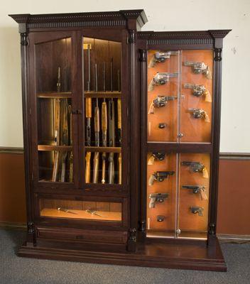 Attirant Custom 12 Gun Cherry Knife And Pistol Display | GunSafe   Amish Custom Gun  Cabinets   _MG_7400