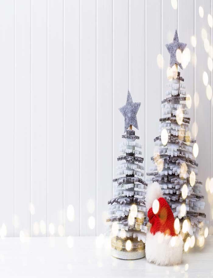 Christmas Tree Photography Background Wood Floor Brick Wall