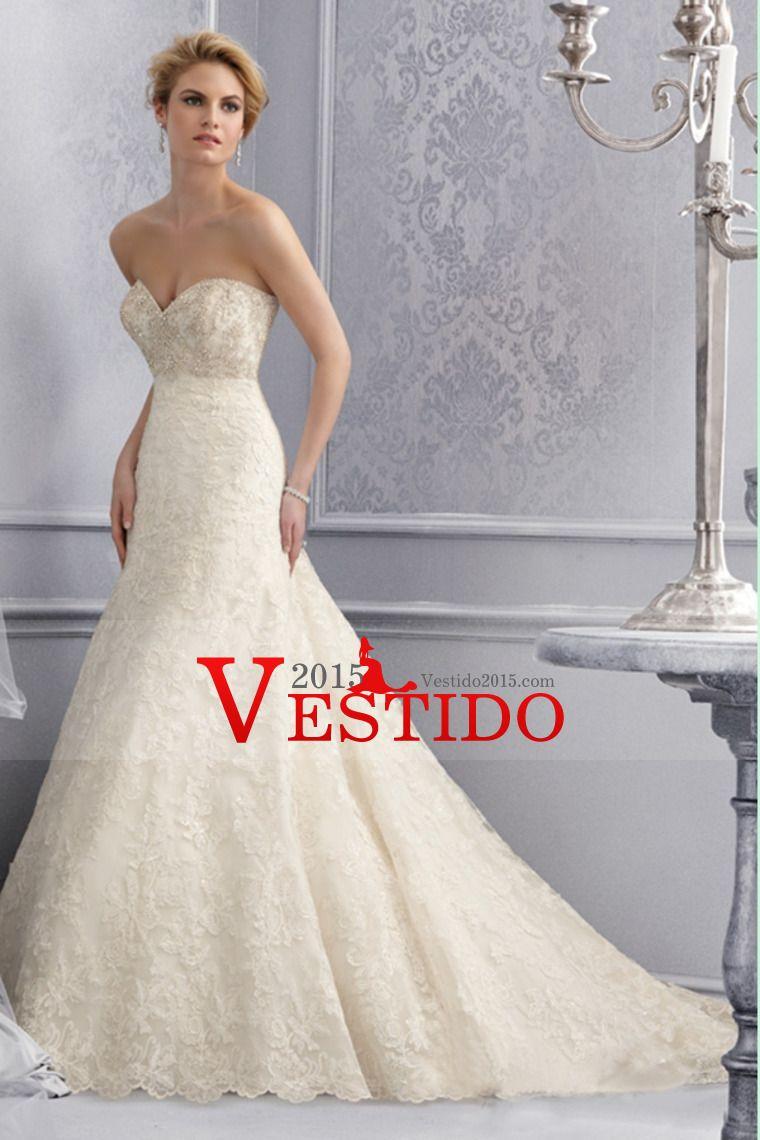 2014 blusa moldeada sirena del amor / vestido de boda de la trompeta ...