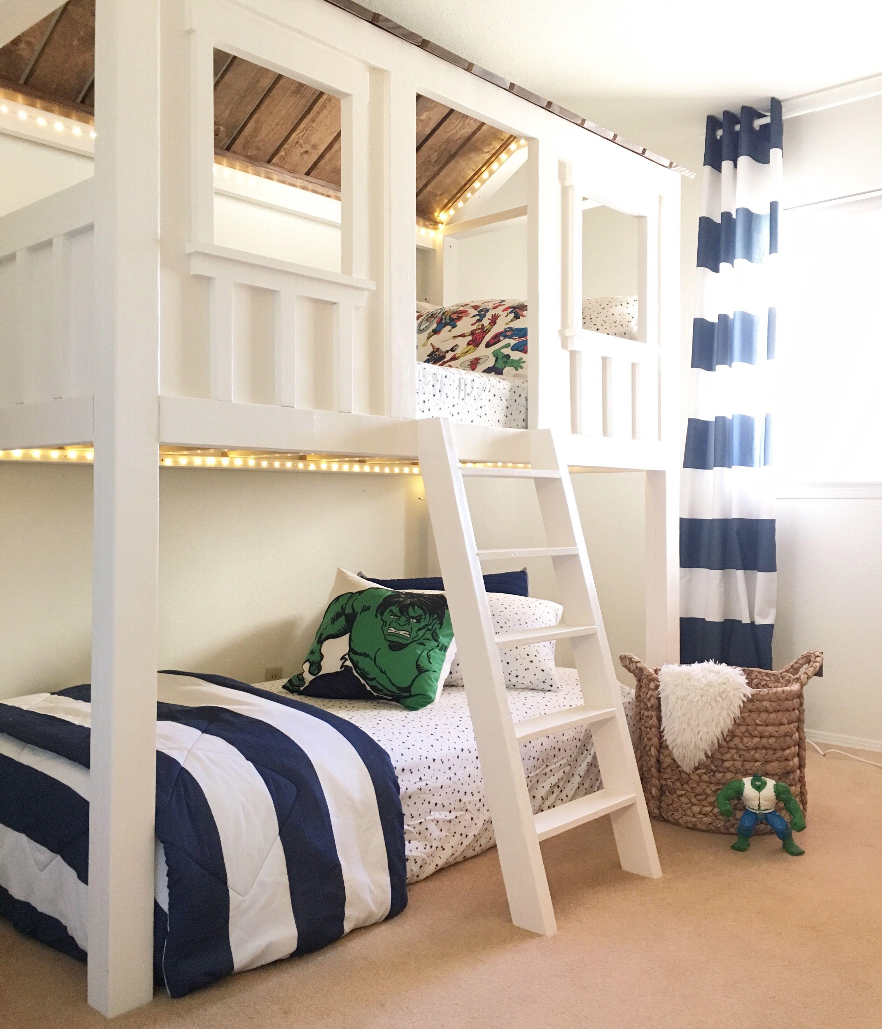Loft Cabin Bed Ana White in 2020 Loft bed plans, Diy