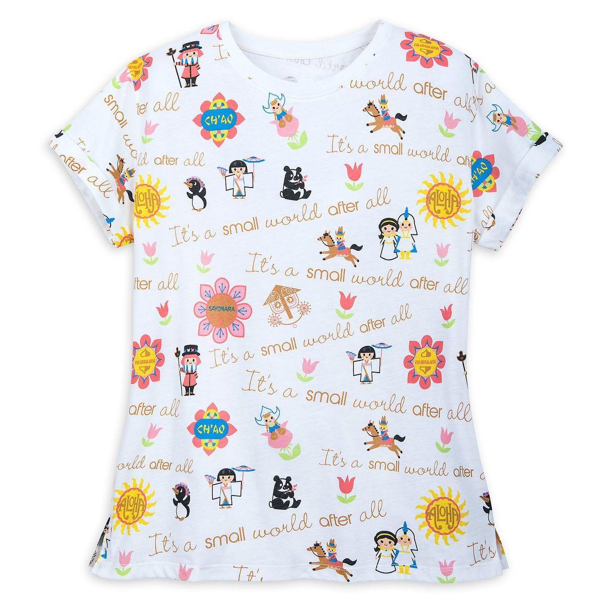 Disney Womens Wonderland Ringer Graphic T-Shirt