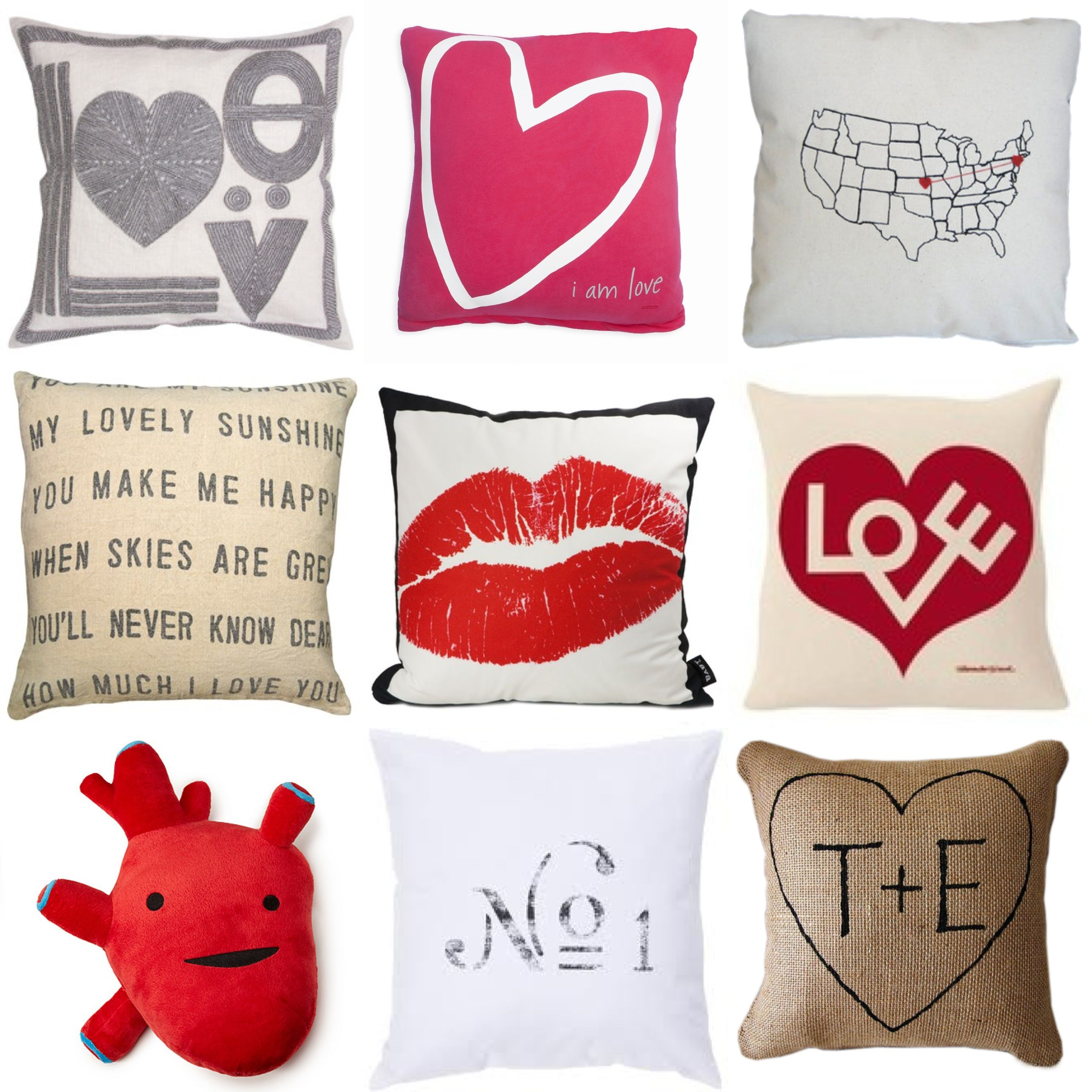tossing love around with valentines day themed pillows gina - Valentine Pillow