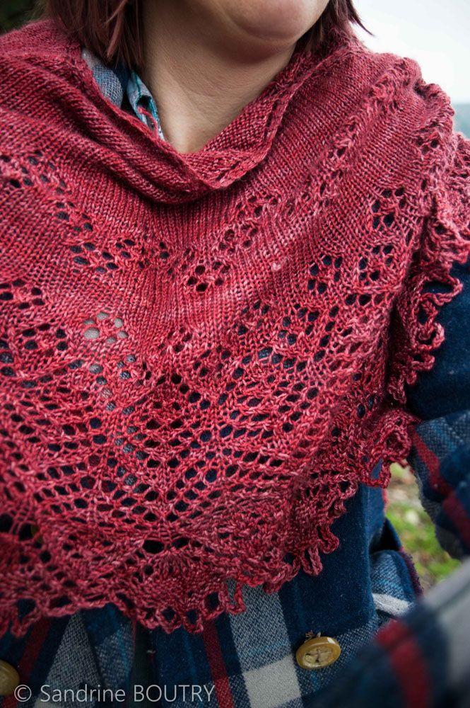 Châle en dentelle au tricot