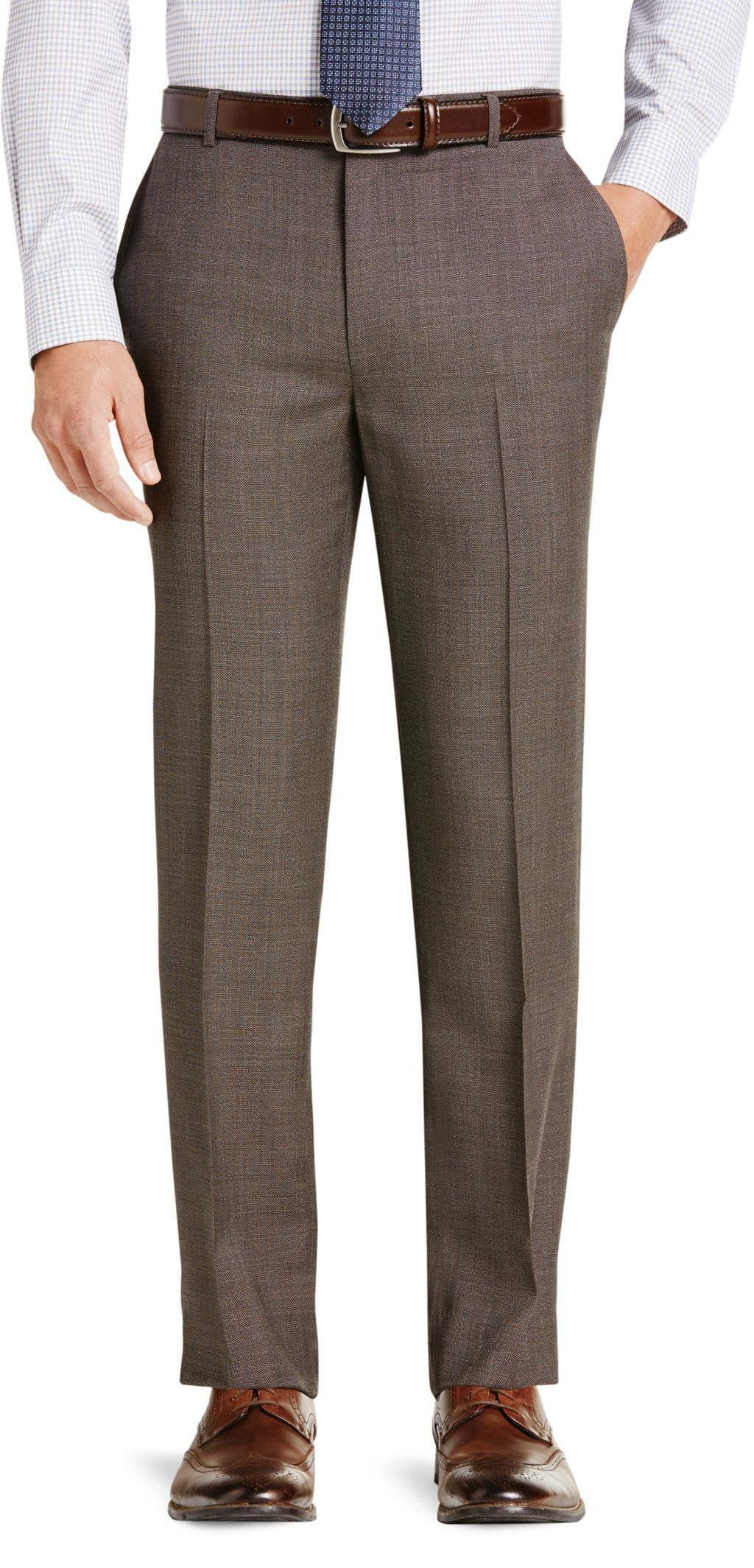 b7f269a4f07963 Traveler Collection Tailored Fit Flat Front Dress Pants