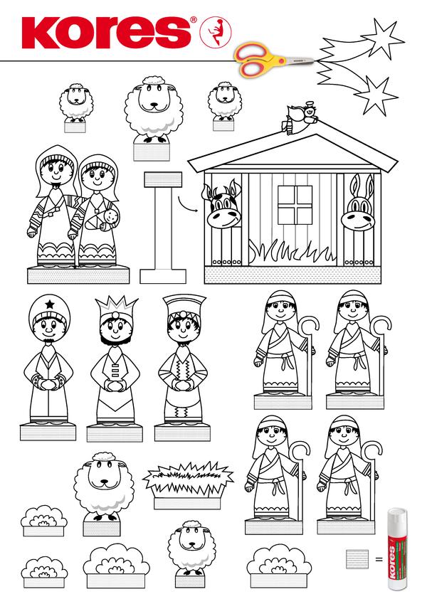 kores com kores nativity template teach christmas crafts