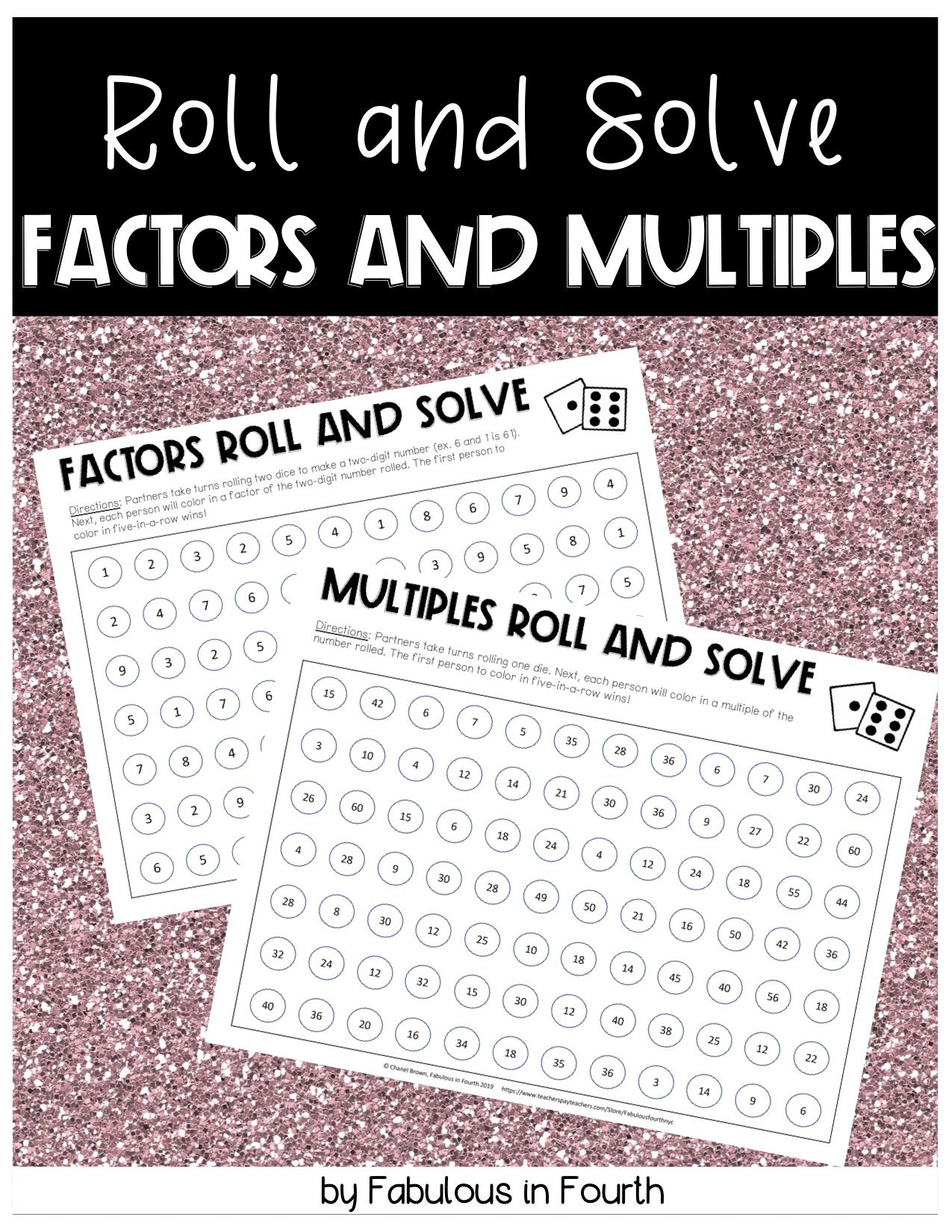 Factors And Multiples Roll And Solve Game 4 Oa 4
