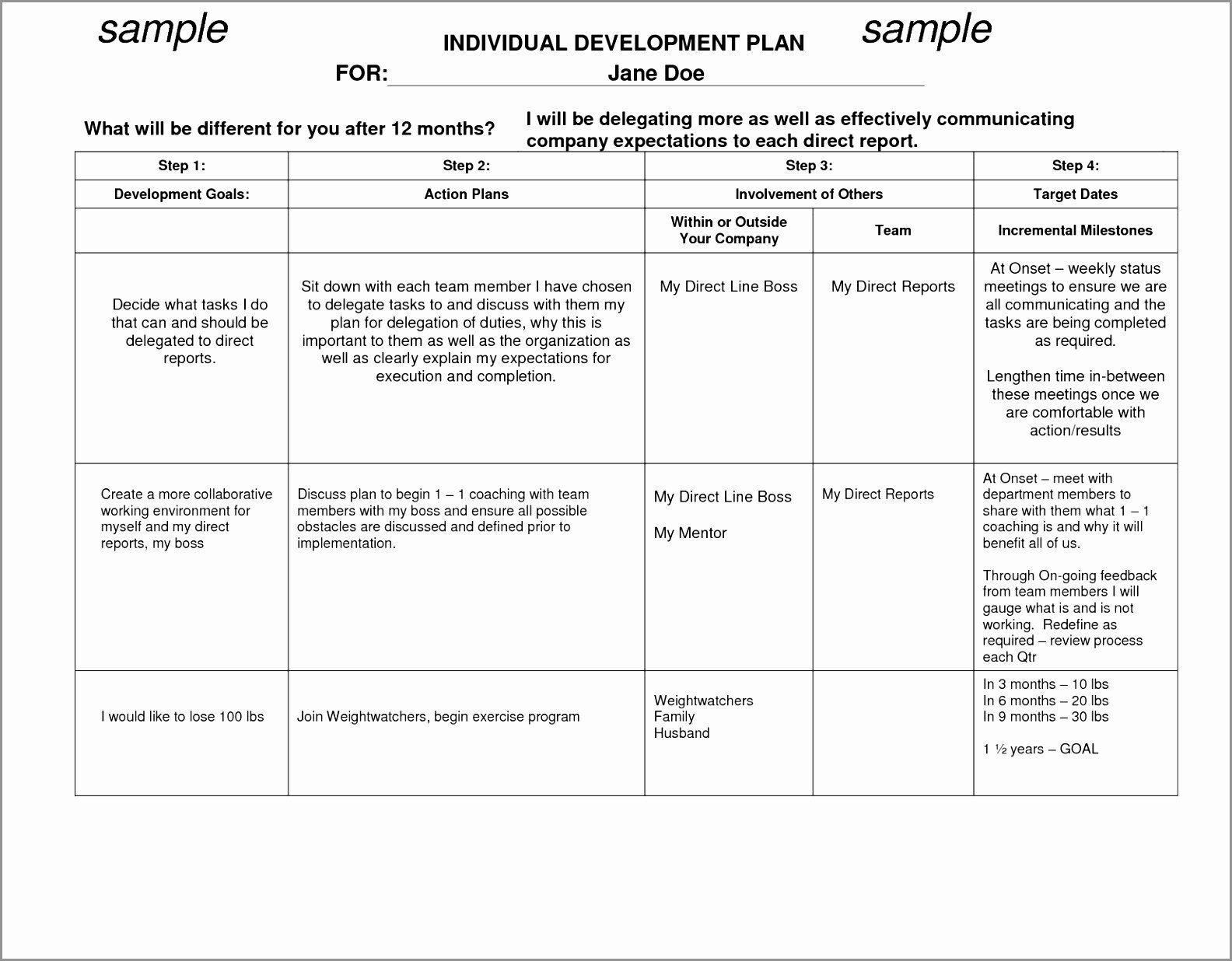 Individual Career Development Plan Template Best Of 12 Employee Career Development Pla Personalized Learning Plan Career Development Plan Personalized Learning Career action plan template for students