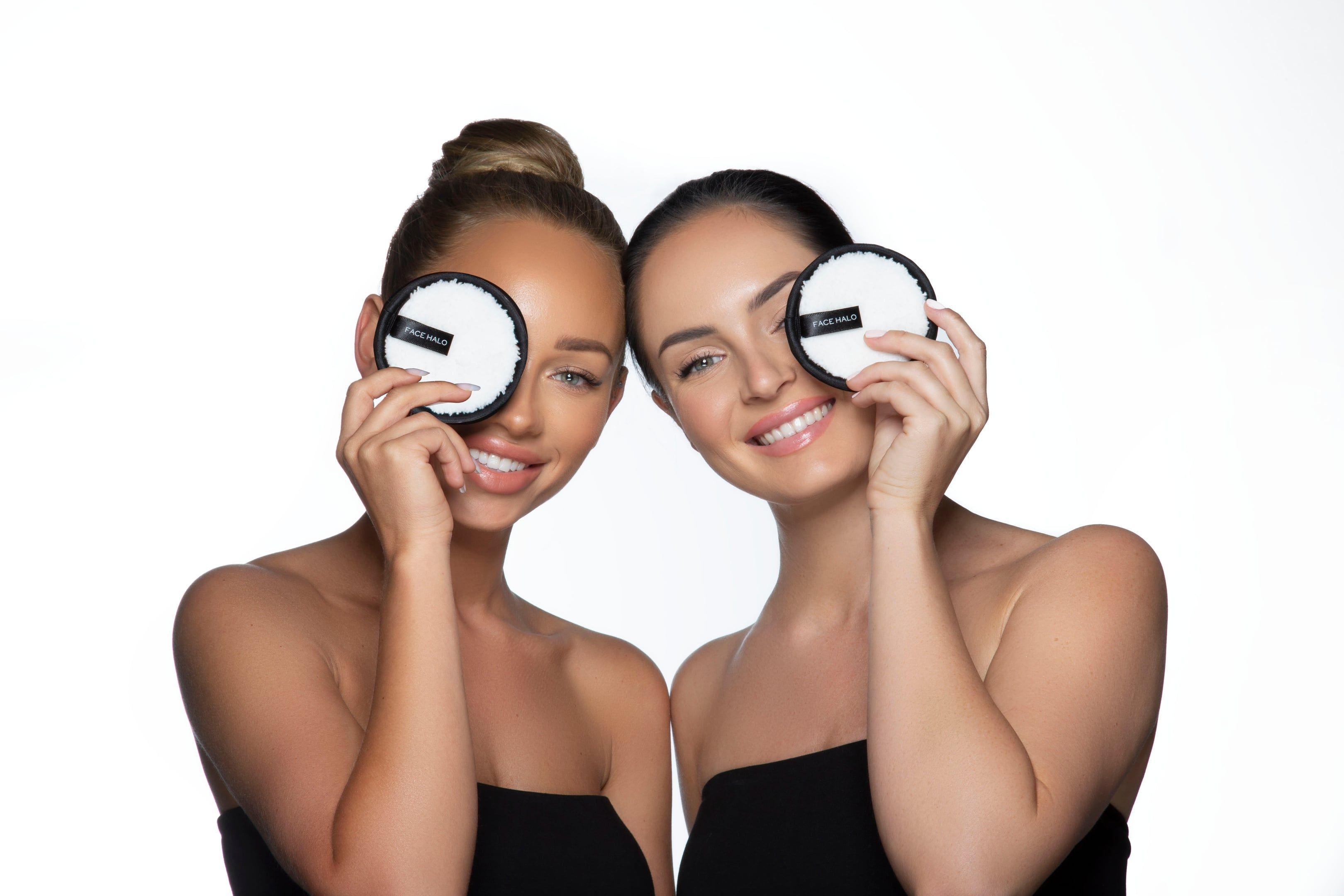 Face Halo vs Makeup Wipes Makeup wipes, Makeup vs no
