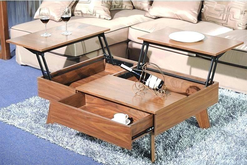 Multi Use Coffee Table The Multipurpose Lift Up Mechanism Folded Primst Multifunction