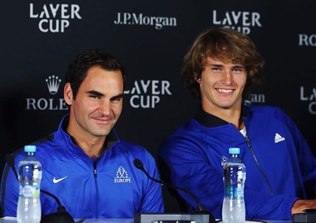 Laver Cup - Roger Federer et Alexander Zverev - 22/24 septembre 2017 - Prague