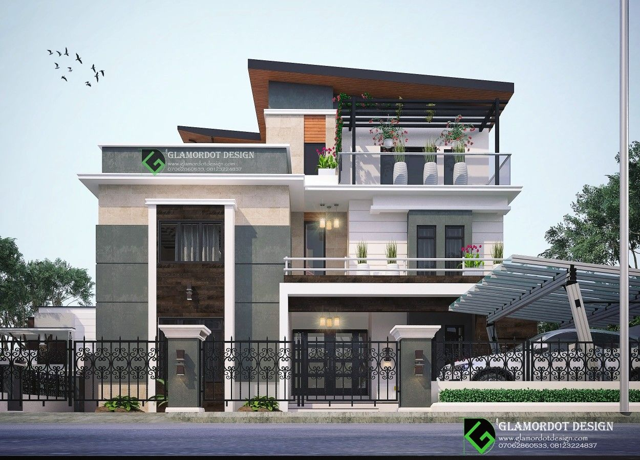 Proposed 5 Bedroom Contemporary Duplex In Gambia It Has A