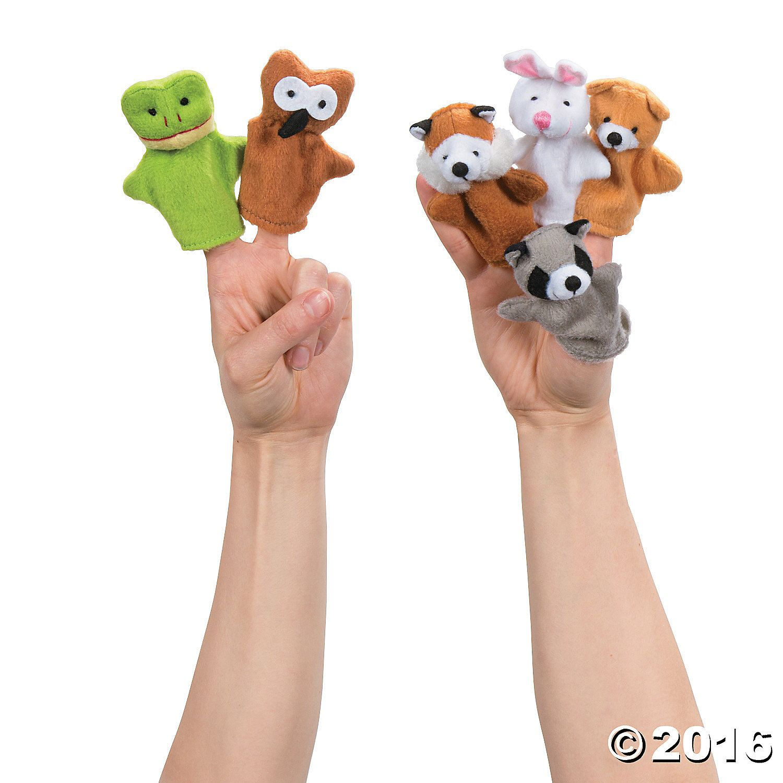 Woodland Stuffed Animal Finger Puppets Woodland animals