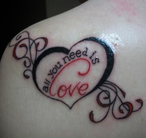 All You Need Is Love Tattoo Tattoos And Tattoo Designs Love Tattoos Heart Tattoo Designs Tattoo Designs