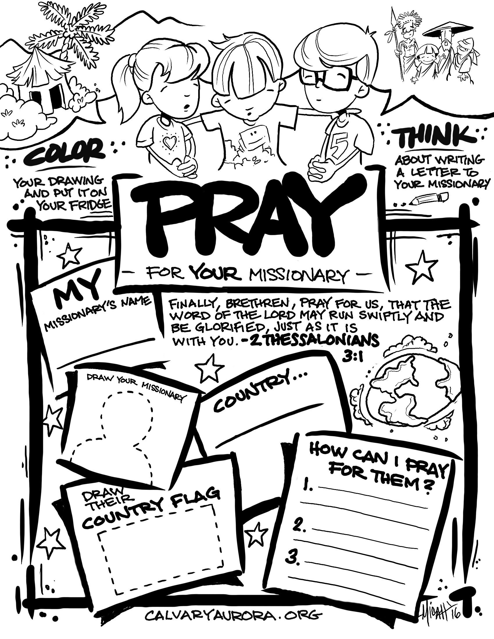 Pray For The Missionaries Lds Coloring Pages