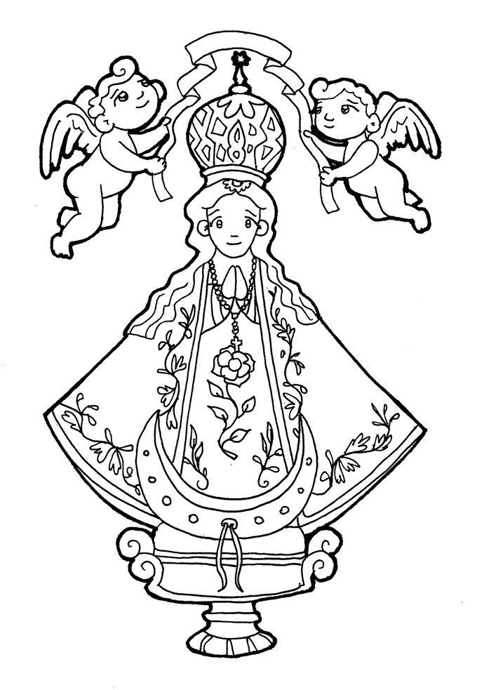 NUESTRA SEÑORA DE SAN JUAN DE LOS LAGOS para pintar. | Virgen María ...