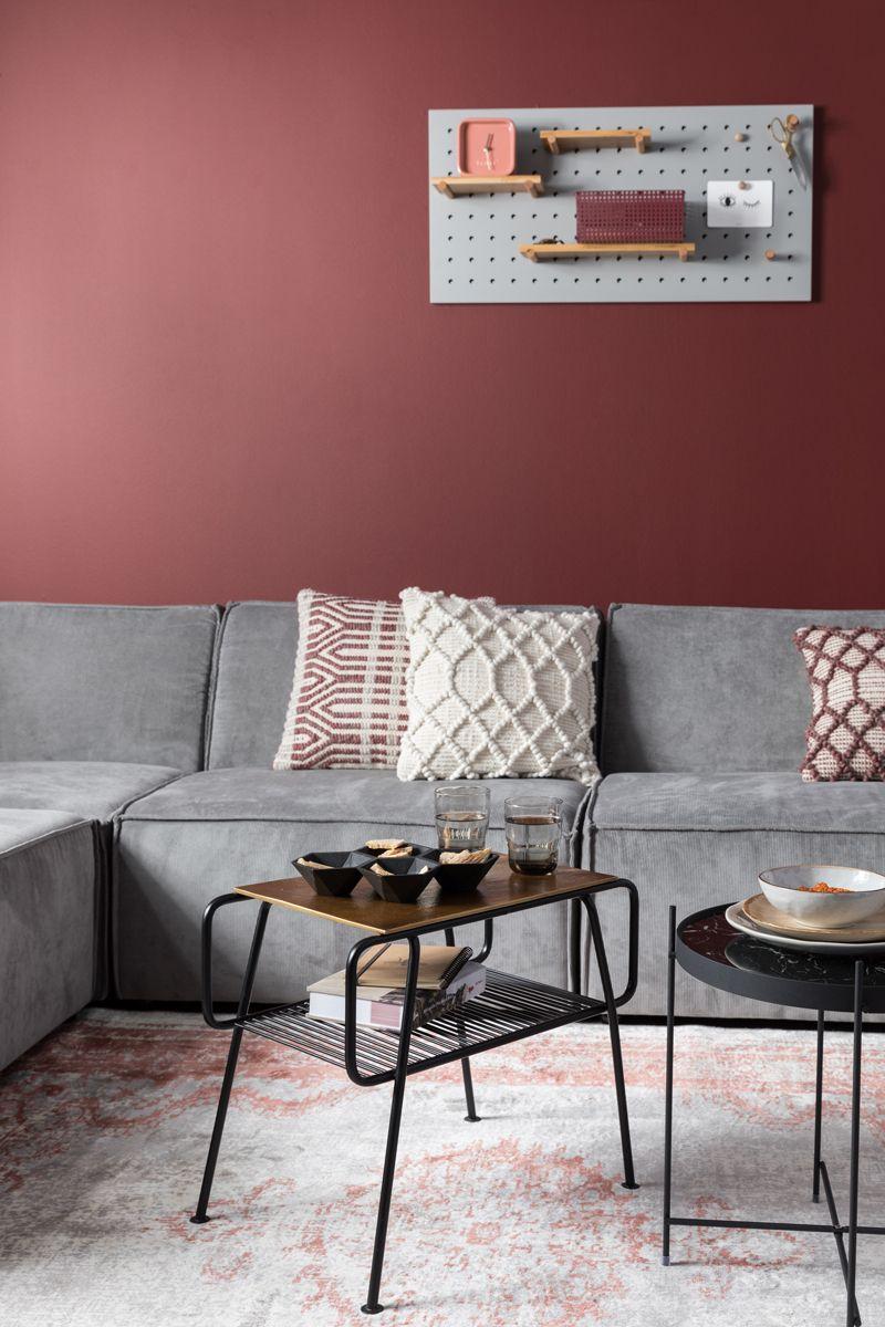 Zuiver in 2019  Flamant kleuren  Woonkamer rood